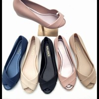 Flat Shoes Hermes - Sepatu Jelly Hermes Silang / Jelly Shoes Wedges