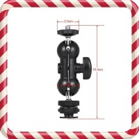 Multi-Function Double Ballhead Magic Arm with Cold Shoe Mount 1-4in