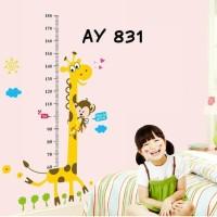 wall sticker tinggi badan wallsticker dinding 60x90 grow up giraffe on