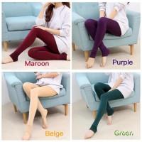 Legging Celana Polos Panjang Dalaman Gamis Wudhu Fashion Wanita Lejing