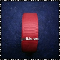 1 Roll Pita Grossgrain 25mm/2,5cm Merah