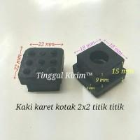 Karet kaki kotak hollow 2x2 cm / karet kaki kotak hollow 20x20 mm