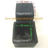 Karet kaki kotak hollow 3 x 3 cm / karet kotak 30 x 30 mm. Model cover