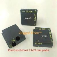 Karet kaki kotak 2.5 x 2.5 cm/karet kotak hollow 25 x 25 mm full padat
