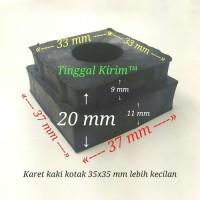 Karet kaki kotak 3.5 x 3.5 cm/karet kaki kotak hollow 35 x 35 mm