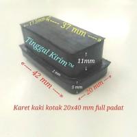 Karet kotak hollow 2 x 4 cm / Kaki karet kotak hollow 20 x 40 mm padat