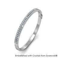 Glamour Bangle - Gelang Crystal Swarovski® by Her Jewellery