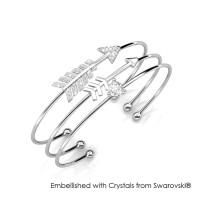 Cupid Bangle - Gelang Crystal Swarovski® by Her Jewellery