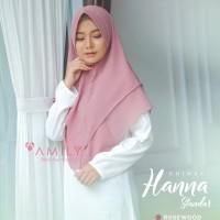 Khimar Hanna Standar ROSEWOOD Amily Hijab Bahan Soft Georgette