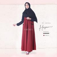 GAMIS HAZNA DRESS CHILI BY AMIMA DRESS ONLY