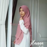 Khimar Hanna Jumbo ROSEWOOD Amily Hijab Bahan Soft Georgette