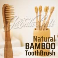 GARUDABALI Sikat Gigi Bambu Kayu Bamboo Natural Toothbrush Zero Waste