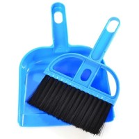 Set Sapu dan Pengki Mini Serbaguna Mini Dustpan Set - Biru