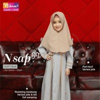 Gamis Anak Set Hijab Instan Aurora Ori Nibras NSAP 59 Anak Usia 0-11th