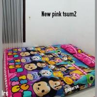 sprei homemade karakter anak SIZE 120 X 200 motif new pink stum2