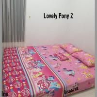 sprei homemade karakter anak SIZE 90 X 200 motif lovely pony 2