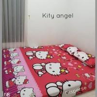 sprei homemade karakter anak SIZE 90 X 200 motif Kitty Angel