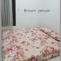 sprei homemade karakter anak SIZE 90 X 200 motif brown januar