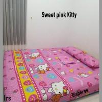 sprei homemade karakter anak SIZE 200 X 200 motif sweet pink kitty