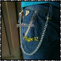 Rantai Celana Jeans Double Ring Fashion Chain Handmade 40cm