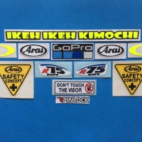 Cutting Sticker Stiker Visor Set Paket Arai