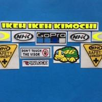 Cutting Sticker Stiker Visor Set Paket NHK