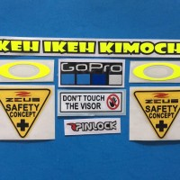 Cutting Sticker Stiker Visor Set Paket ZEUS