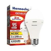 Lampu LED hannochs genius emergency / magic ac dc 15w 15 watt