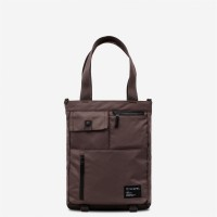Tote Shoulder Grid Brown