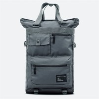 Tote Backpack Grid Cool Grey