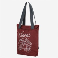 Tote Bag Shrivel Maroon Red