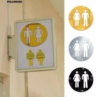 Stiker Kamar Mandi / WC / Toilet Kloset Sticker Closet 3D