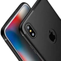 Case iPhone X / XS   XR   XS Max Slim Silicone Casing Black [Premium]