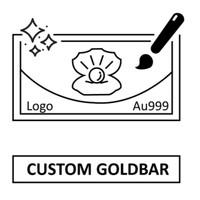 Tiaria 24K Custom Gold Bar Logam Mulia Emas Murni 24 Karat