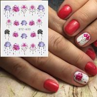 Harga lotus stiker kuku water transfer nail stickers nail decal | antitipu.com
