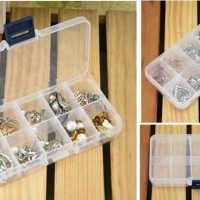Kotak tempat obat / perkakas / bead / manik / mote / kancing 10 sekat