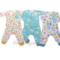 Libby 3 Setelan Baju Panjang dan Celana Panjang motif Special sz 0-3m