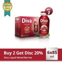 Buy 2 Diva Liquid Mixed Berries 6x85ml
