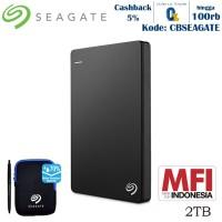Seagate Backup Plus Slim Harddisk Eksternal 2TB - Hitam
