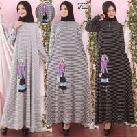 Baju Gamis Wanita Terbaru Gamis Salur Remaja Gamis Boneka 3D 7111