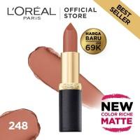 L'Oreal Lipstik Matte Color Riche Matte 248 Flatter Me Nude
