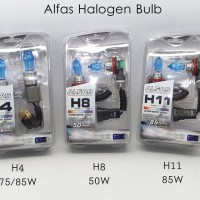 Halogen xenon alfas H4 - 75/85 Watt (White)