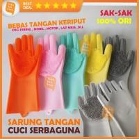 Sarung tangan silikon gloves Mencuci Cuci Piring Mobil Toilet Dapur