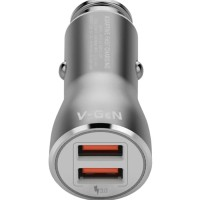 Car Charger V-GeN VCC2-01 Fast Charging 3.0 (Charger Mobil 2 Port)