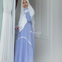 GAMIS ONLY GLADIA DRESS LIGHT BLUE AMILY MUSLIMAH DAILY FASHION MUSLIM