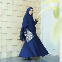 Gamis Only Trixi Navy XL LD 110 cm Amily Baju Muslimah Fashion Muslim