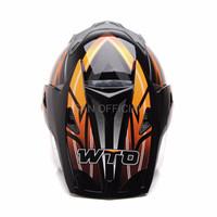HELM RETRO HELM KYT HELM INK WTO Helmet Pro Sight Cross Hitam Oren Pr