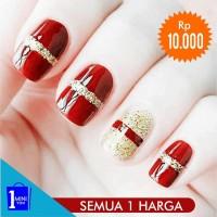 Sticker Kuku Murah / Nail Sticker Motif / Fashion Wanita-12