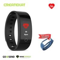 Createkat Smart Band Pemantau Denyut Jantung Smartwatch Hitam Katfit1