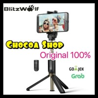 Promo Blitzwolf Bw-Bs3 Tongsis/ Selfie Stick With Bluetooth Remote